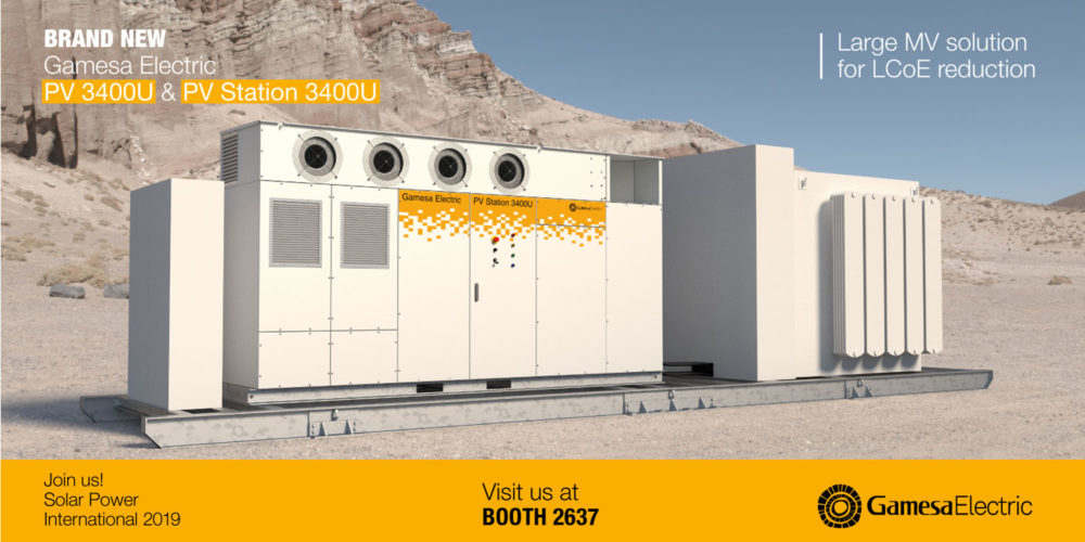 Gamesa Electric introduces its new solar inverters and energy storage solutions for the US market at SPI 2019
