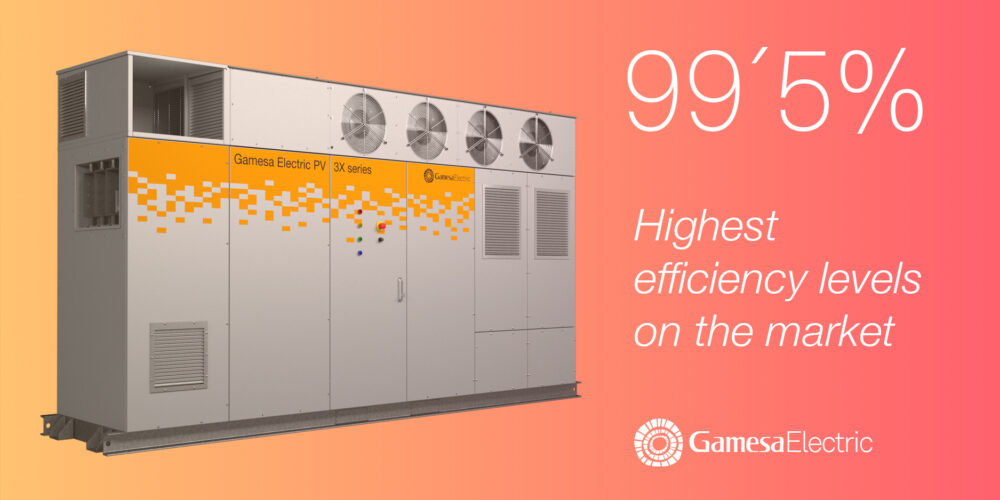 Gamesa Electric's PV 3X series inverter breaks the efficiency record with 99.52%